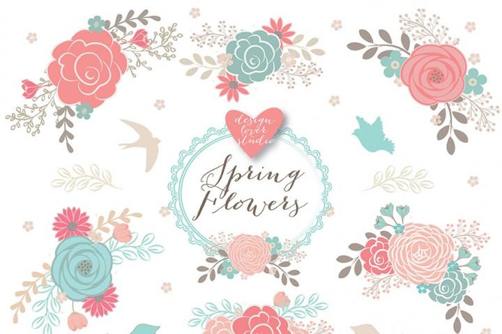 Floral clipart Floral Clipart flower Wedding clipart