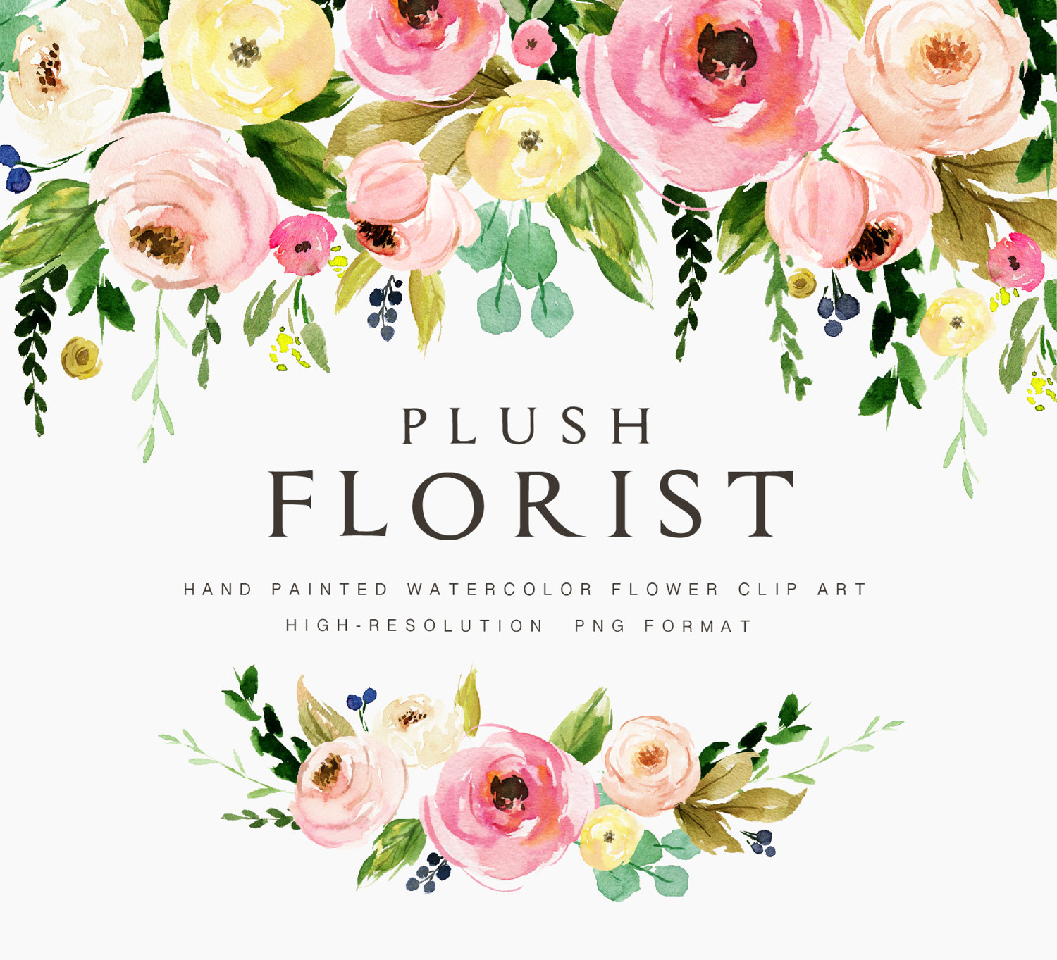 Water Color clipart flowery #1