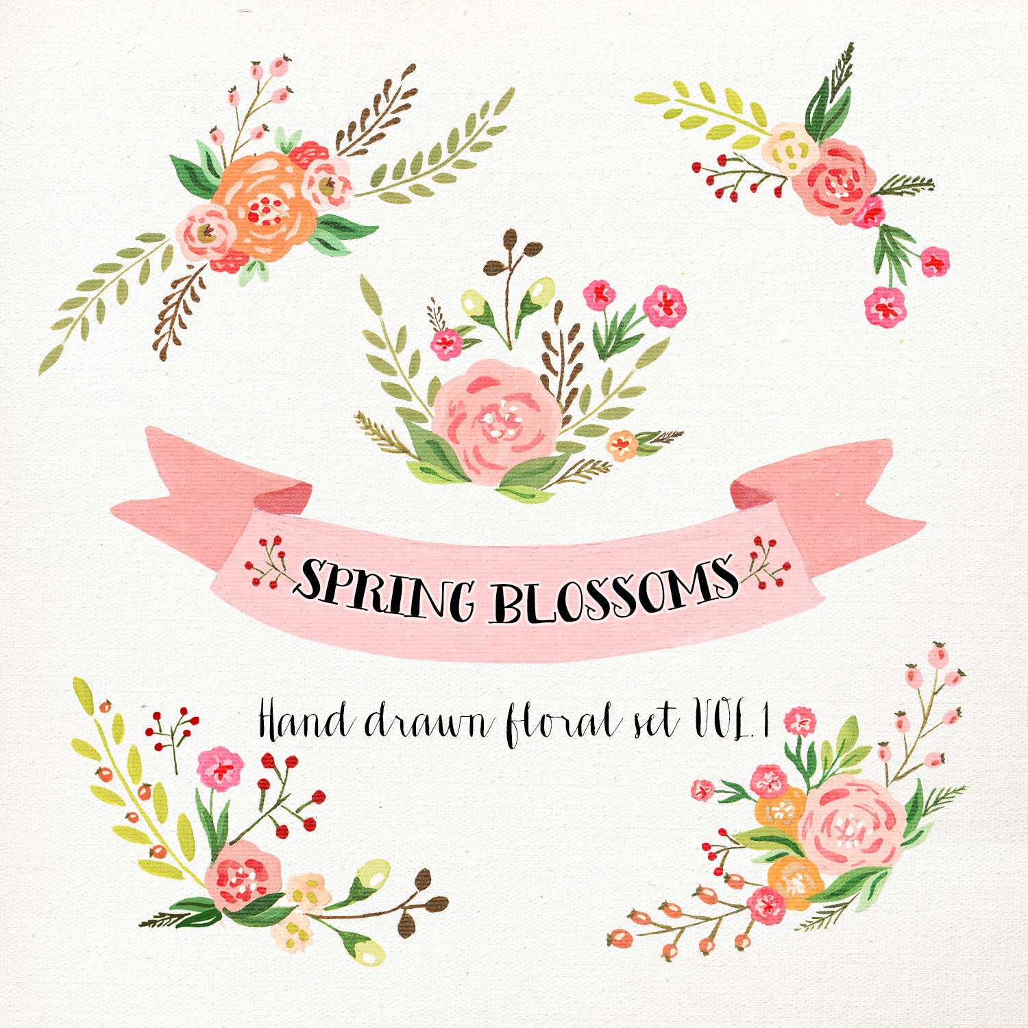 Swag clipart flower  art Wedding Flower Watercolor