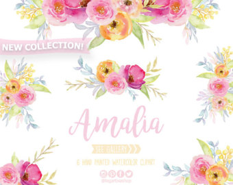 Floral clipart Frames clipart arrangement wedding Flower
