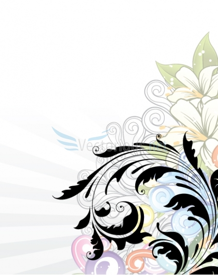 Floral clipart abstract Abstract abstract Panda art: background