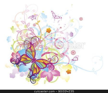 Floral clipart abstract Background Abstract and Abstract Flower