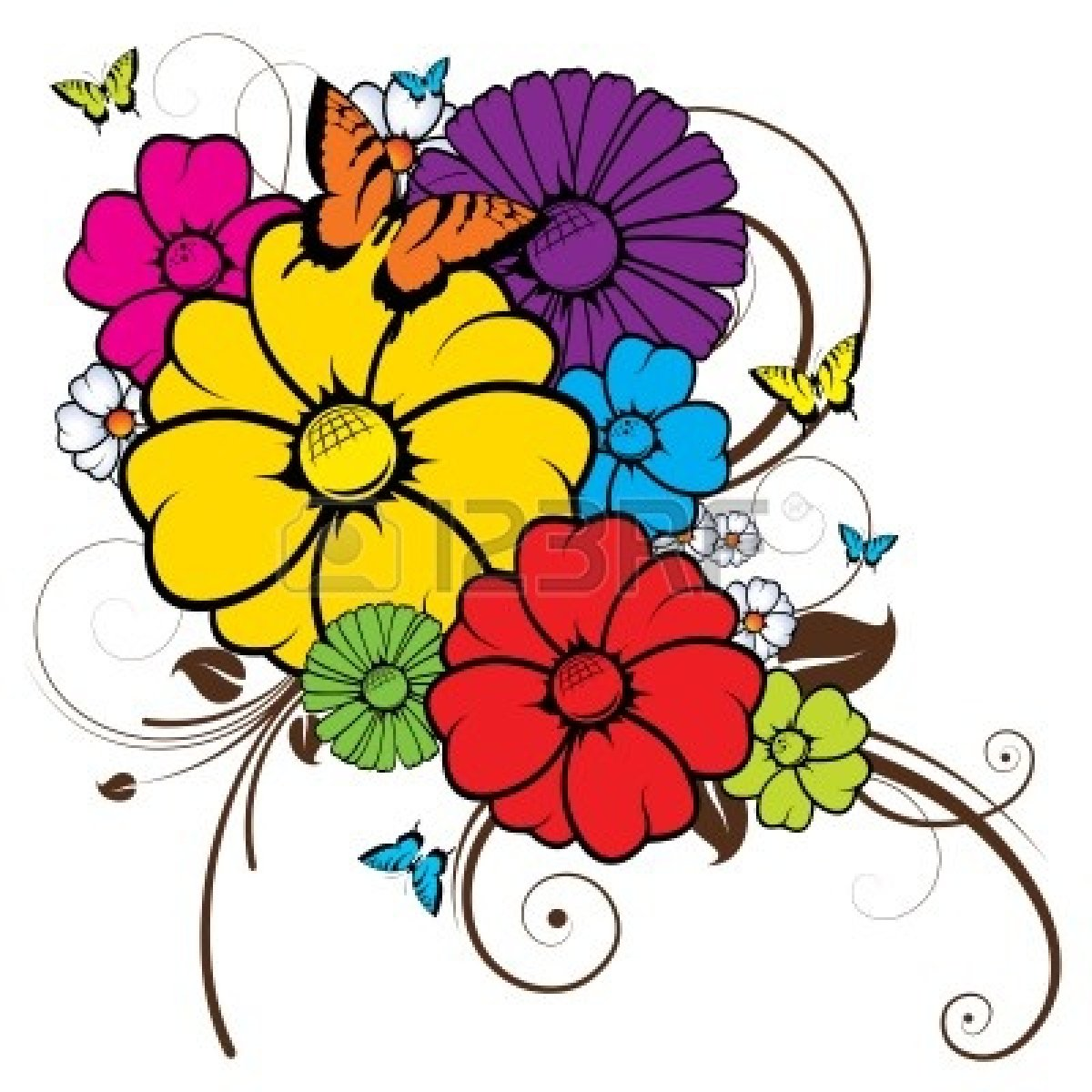 Floral clipart abstract Free Art Clip Panda Clipart