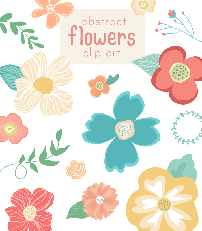 Floral clipart abstract Art Flower Cute Clip Abstract