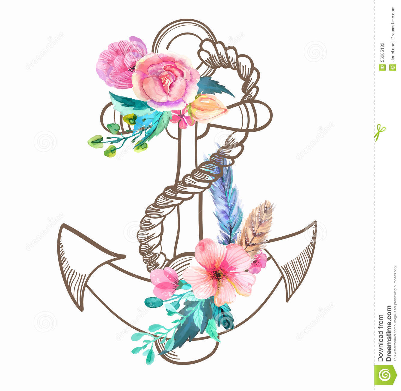 Floral clipart anchor Tattoo tattoo ANCLAS Pinterest Google