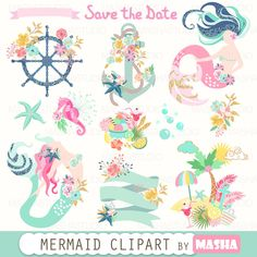 Mermaid clipart white background Clipart