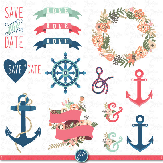 Floral clipart anchor
