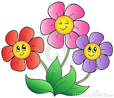 Floral clipart animated flower Stock on blooming Three Image: