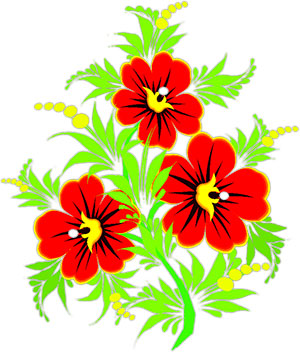 Floral clipart animated flower Horizontal and flowers Rules yellow