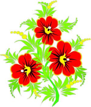 Poinsettia clipart horizontal flower border Yellow Rules Flower flowers red