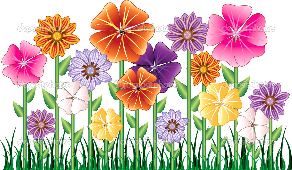 Floral clipart animated flower Stock Basheera Garden  Flowers