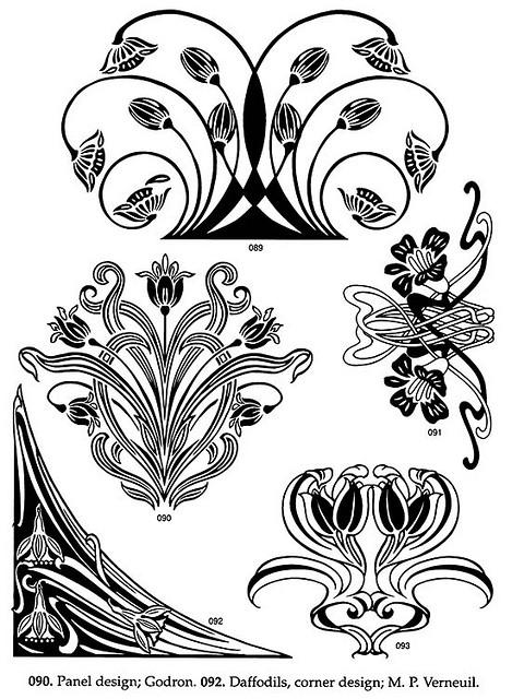 Floral clipart art deco Nouveau Floral Photo Sharing! Designs
