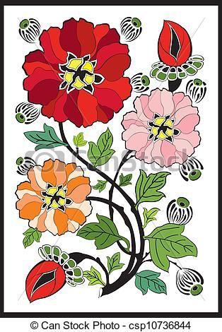 Floral clipart art deco Best stock illustrations stock Nouveau