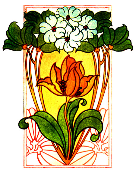 Floral clipart art deco Art and flower picture Picture