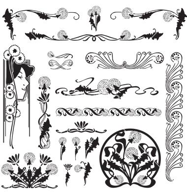 Floral clipart art deco Free vectorstock http://www vectorstock pattern