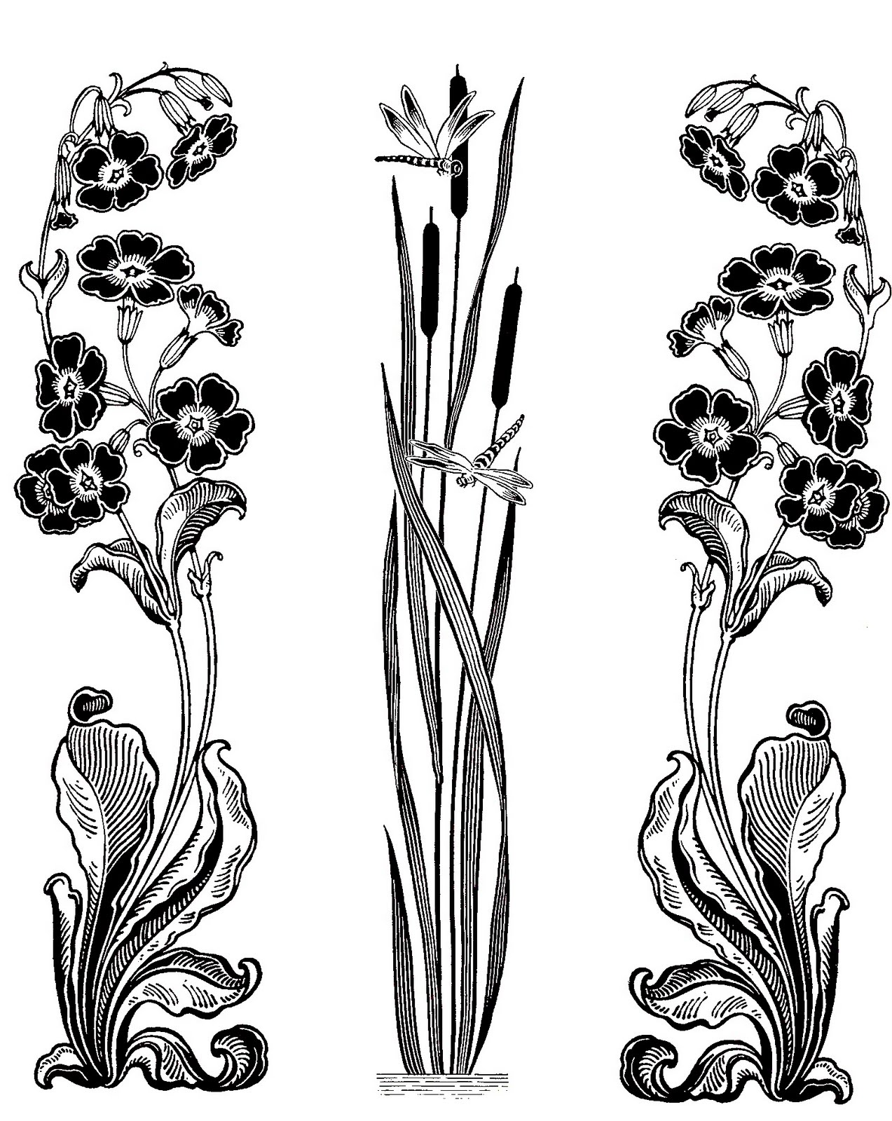 Floral clipart art deco Download Art Nouveau Clipart Still