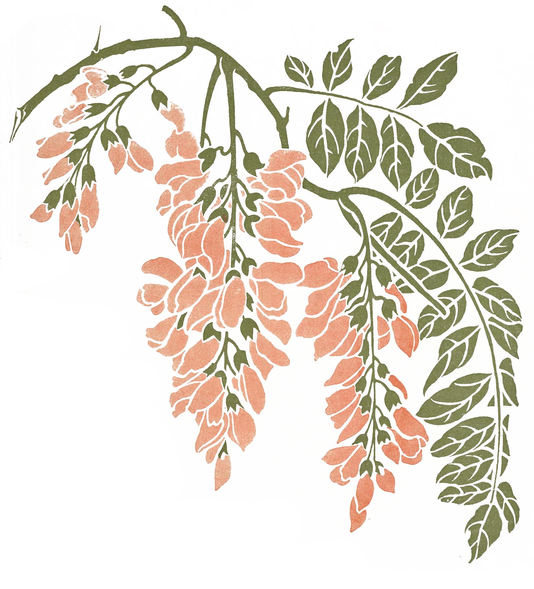 Floral clipart art deco Pinteres… Vintage Floral Frame Pink