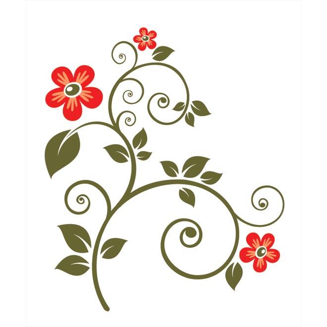 Floral clipart art deco Download Free Border Vector vector