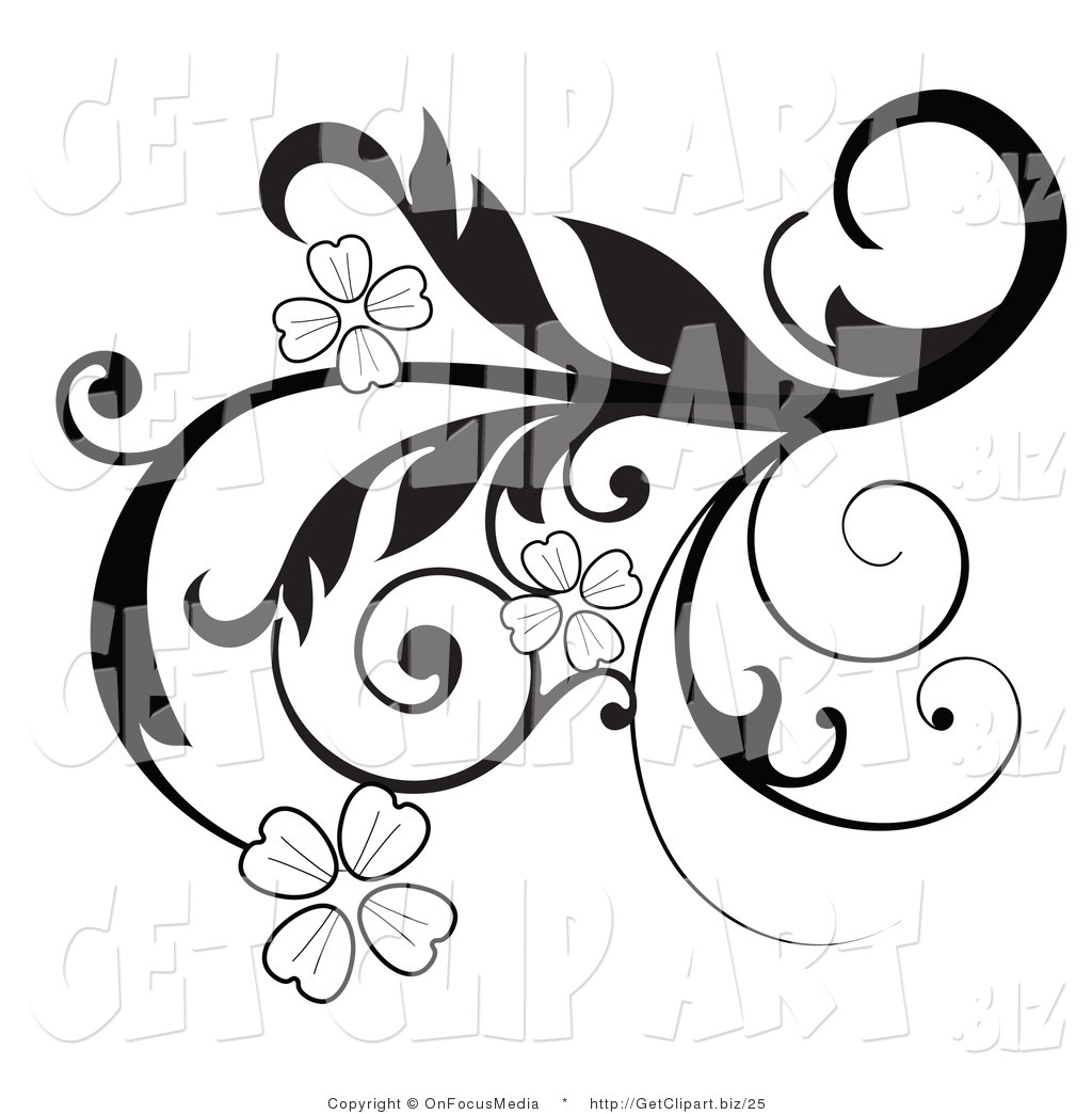 Curl clipart flower scroll Flower library Border Art And
