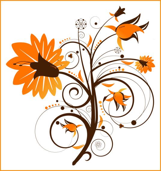 Orange Flower clipart fall flower Misc download <b>Art</b> <b>Clip</b> Flowers