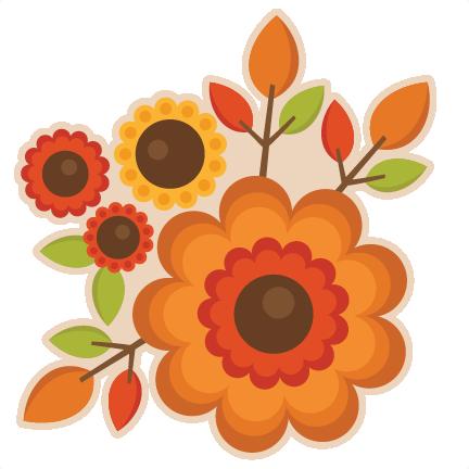 Orange Flower clipart fall flower  Free Free Art Flowers