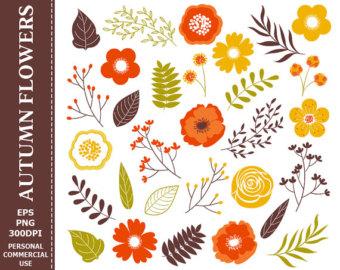 Yellow Flower clipart 70 flower Clip Flowers Digital clip 70%