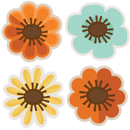 Floral clipart autumn flower Flowers free cut svgs scrapbooking