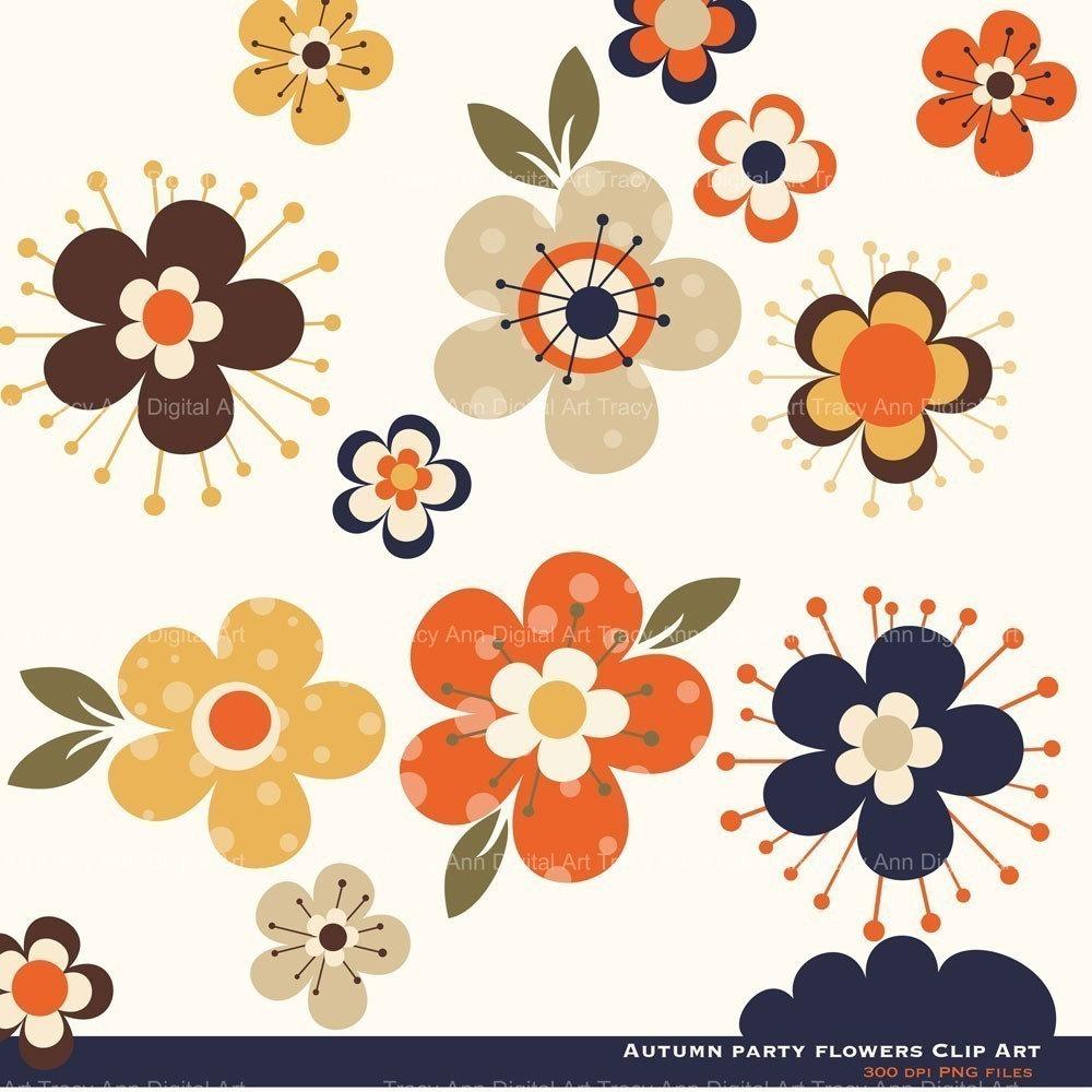Floral clipart autumn flower Flowers  Autumn Clipart