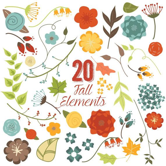 Floral clipart autumn flower And Clip Flowers Pinterest on