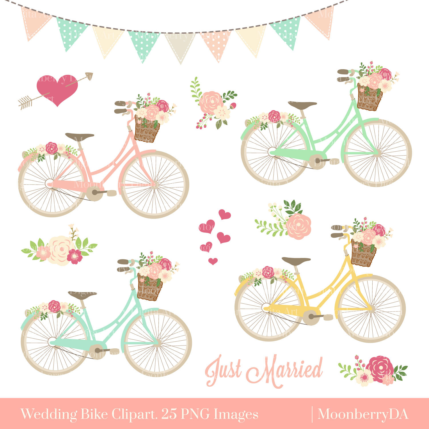 Floral clipart bicycle Bicycle PNG Clipart Clipart CLIPART