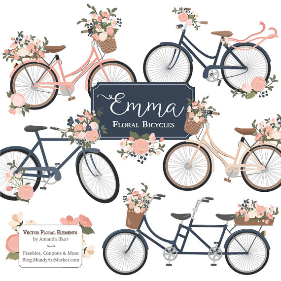 Floral clipart bicycle Bicycle #148 Clipart Clipart Bicycle