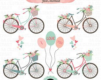 Bike clipart drawn Pack Hand Etsy printable wedding