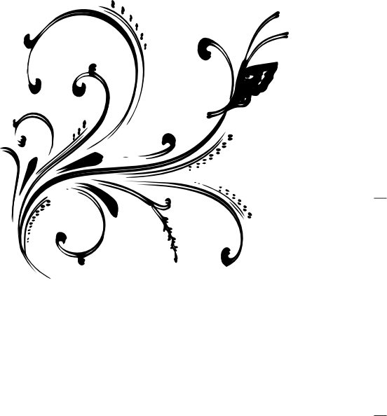 Floral clipart black and white Art Butterfly clip Download Floral