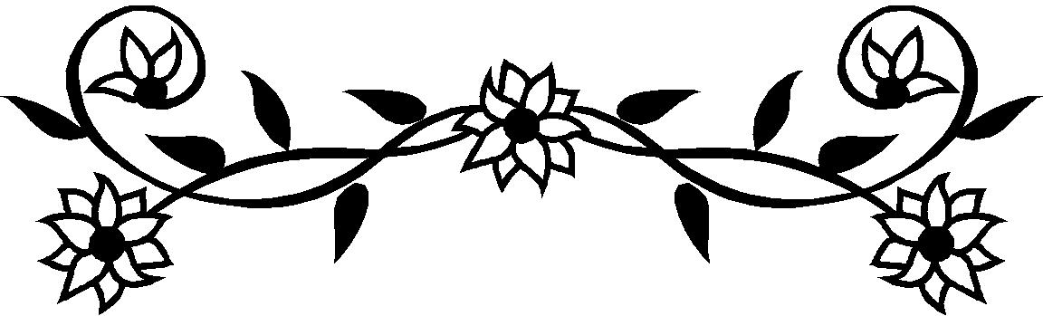 Floral clipart black and white Free Clipart White  Black