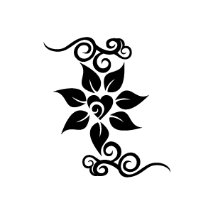 Floral clipart black and white And white black clipart flower