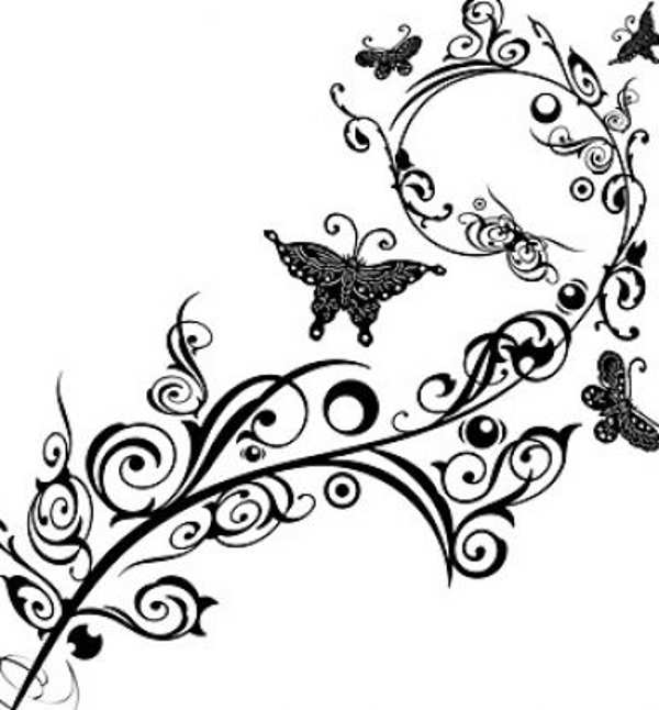 Floral clipart black and white And Collection clipart Clipart Rose