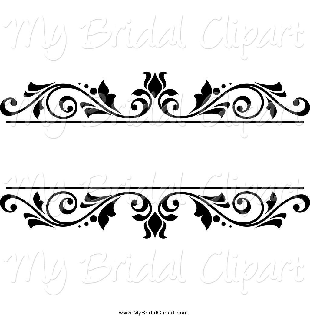 Floral clipart black and white Floral White by  Bridal