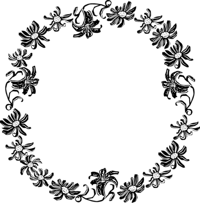 Floral clipart black and white Clipart Free Flower Border Panda