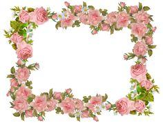 Floral clipart boarder Flower paper frame freebie vintage