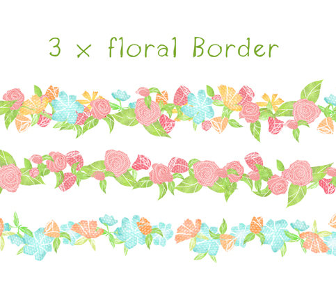 Floral clipart boarder By $5 Floral garden Borders