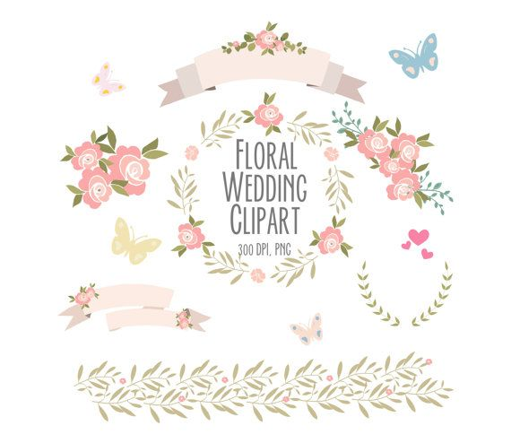 Floral clipart boarder Images Digital on Flowers clipart