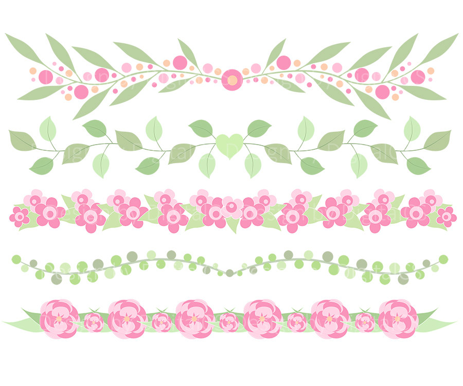 Floral clipart boarder Clipart border a border Flower
