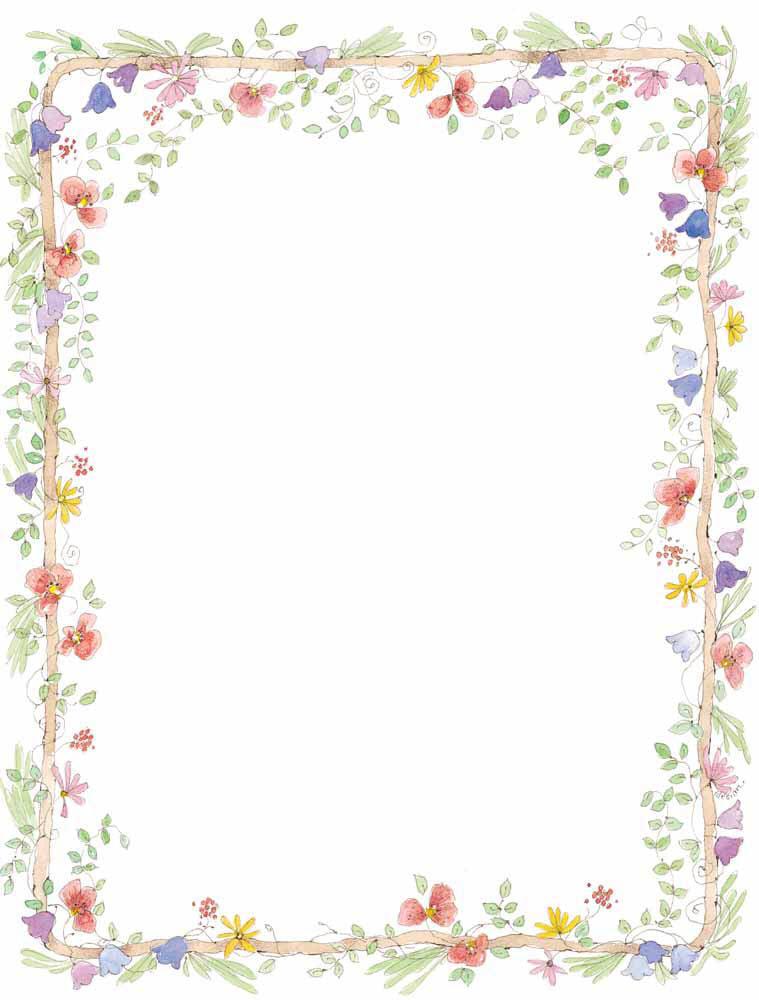 Floral clipart boarder Frames Borders Wedding Art Free