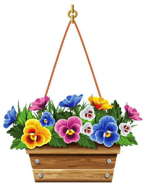 Floral clipart box PNG Picture Picture Hanging Box