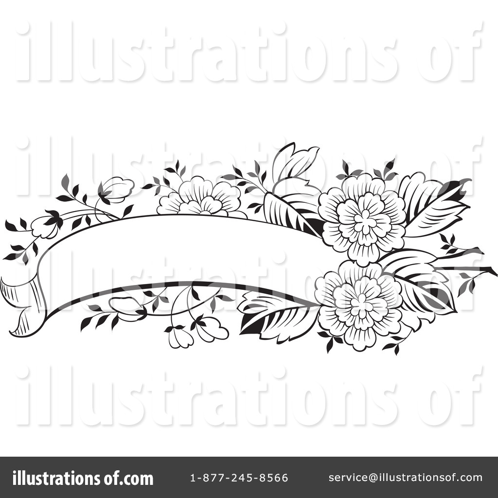 Floral clipart box #61085 Illustration by Royalty Clipart