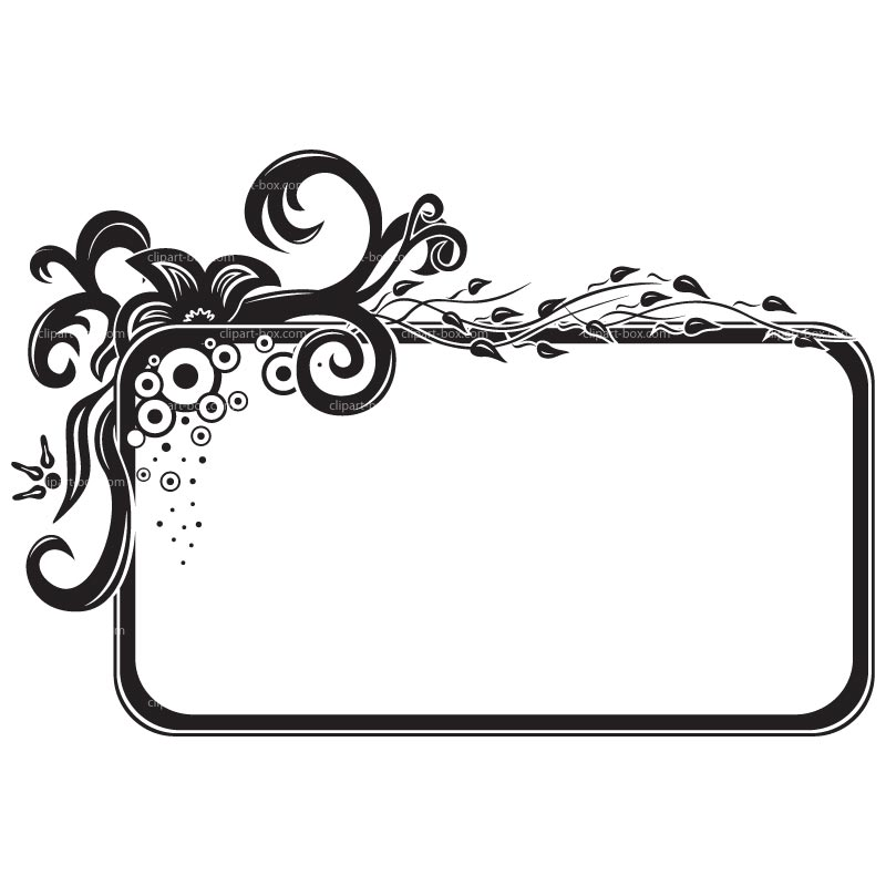 Frame clipart black and white Cliparts Free Frame Free