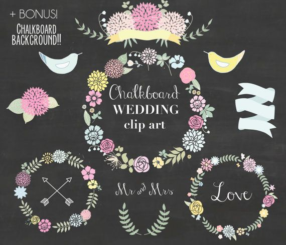 Floral clipart chalkboard Elements Floral 96 about Pinterest