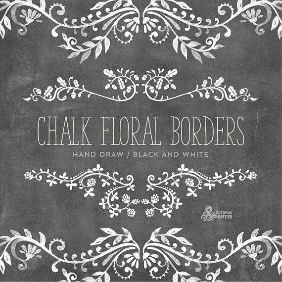 Drawn ornamental chalk #1