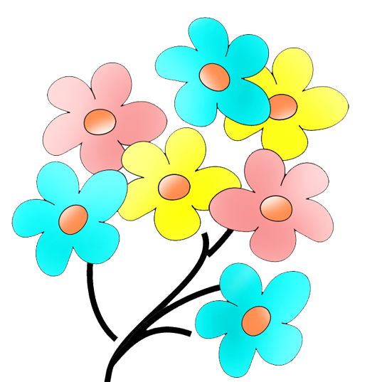 Color clipart colourful flower Flower Floral Gallery Clip Art