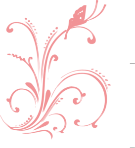 Swirl clipart coral Art Clip Clker Floral Floral